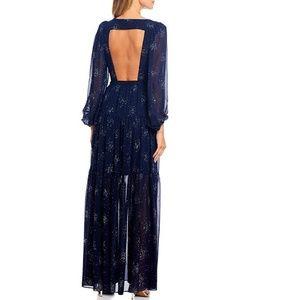 NWOT Eliza J Star Open Back Chiffon Maxi dress